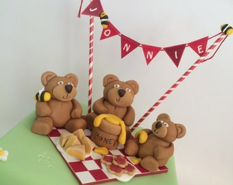 Personalised Bunting Cake Topper