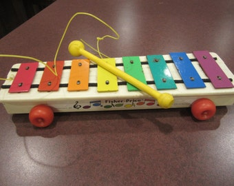 Fisher Price Xylaphone, vintage toy, musical toy