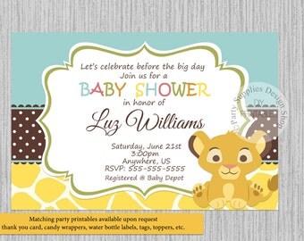 simba lion king baby shower invitations simba baby shower invitations baby shower invitations