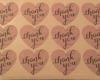 Thank You Stickers-12 per sheet