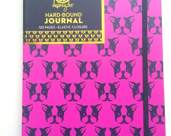 Pink boston Terrier Journal