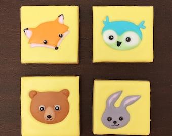Woodland Animal Sugar Cookies