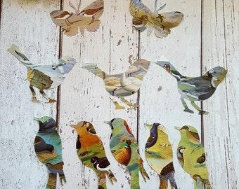 Vintage Book Die Cuts , Bird Die Cuts , Butterfly Die Cuts , Paper Bird , Paper Butterfly , Die Cut Bird Shape , Die Cut Butterfly Shape