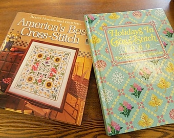 Vintage Cross Stitch Book - BHG Cross Stitch - 1989 Holiday - Needlework