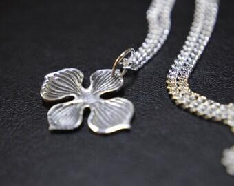 Silver Petal Necklace/Pendant (PMC) (UK)