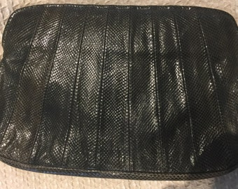 Snakeskin clutch, grey colour