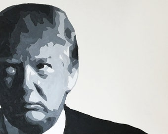Modern Donald Trump Painting - Modern Black and White