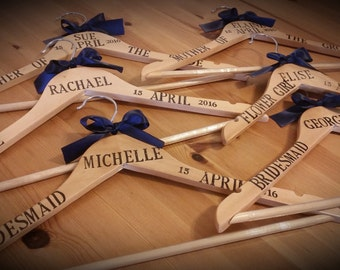 Personalised Wedding Hangers, Set of 2 Bridal Hangers, Prom, Christenings, Special Occasions