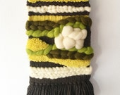 Woven Wall Hanging / Hangwoven Tapestry / Weaving Fiber Art / Home Decor / Textile Art / Paula Recio / Allaboutpau