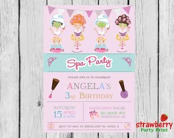 Spa Party Invitation, Spa Birthday Party, Spa Birthday Invitation, Spa Invitation, Spa Party, Spa Makeup Party, Party Printables
