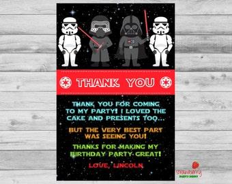 Star Wars Thank You Etsy - Star wars birthday invitation maker