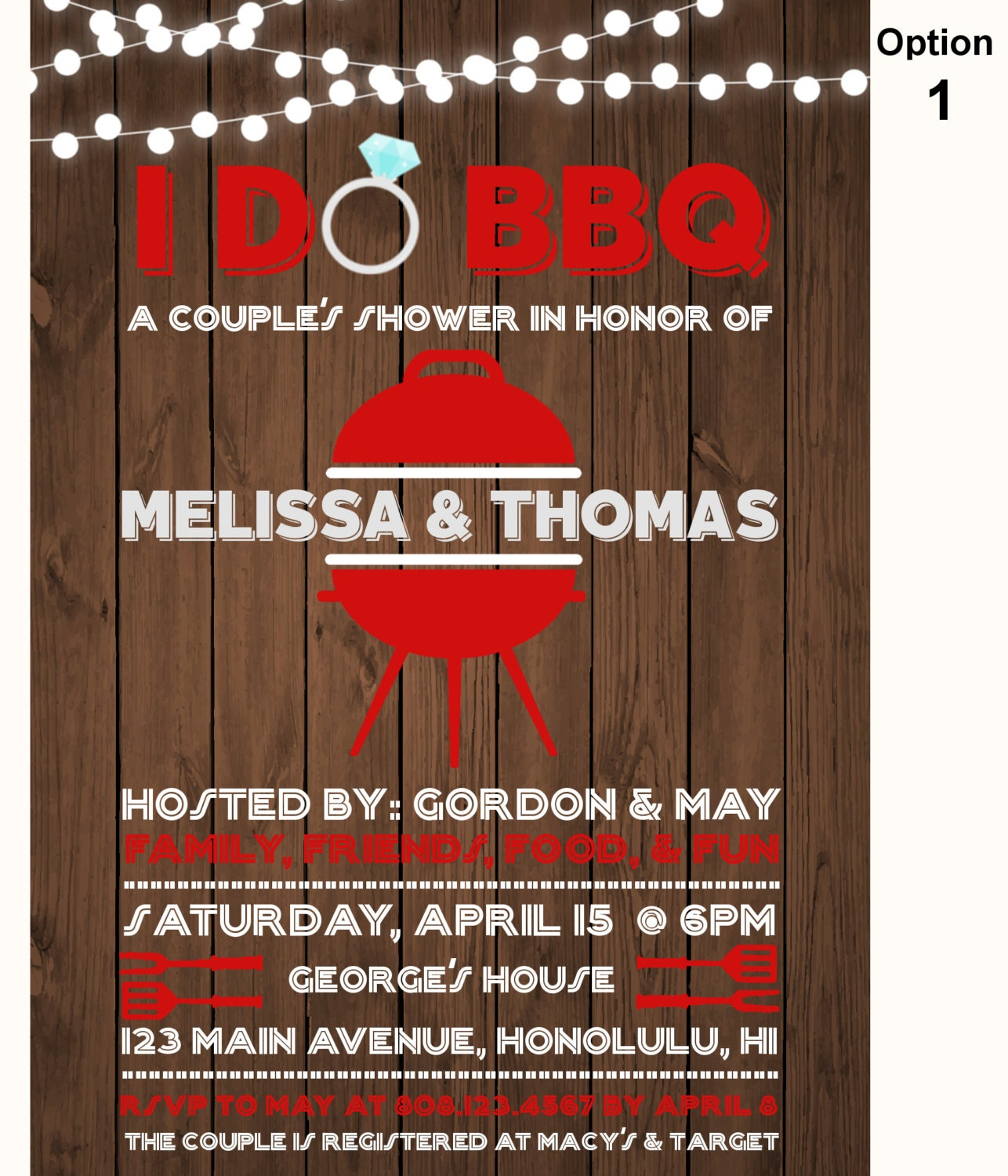 I Do BBQ Couples Shower Invitation, Barbeque Cookout Wedding ...
