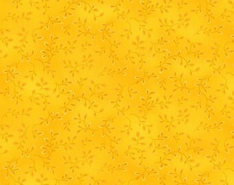 BTHY - Folio Basic By Henry Glass, Tonal Yellow Vines #7755-34, by the HALF Yard