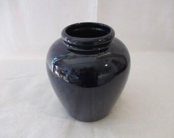 "Vintage Small Blue Earthenware Vase  7"""