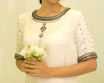 Swarovski Wedding dress,Alternative Wedding Dress,Handmade Casual Wedding dress,Mother of the Bride Dress, Simple Wedding Dress,