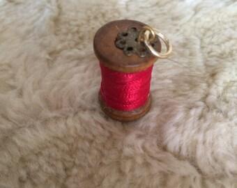 Miniature Cotton Reel Pendant
