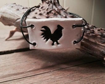 Rooster Silhouette Bracelet