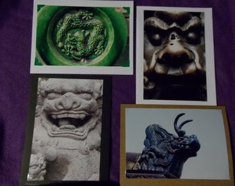 Dragon photo greeting cards