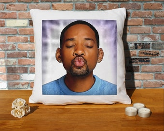 Will Smith Cushion Pillow - Pop Art - 100% cotton - 16x16 inches