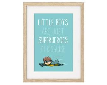 Little Boys are Superheros