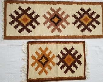 unique handwoven wool rugs/covers