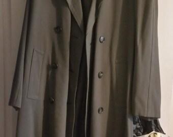 Vintage Olive Trench Coat