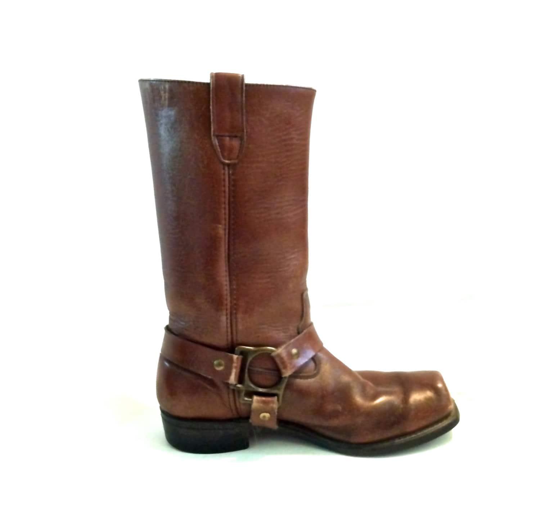 vintage motorcycle boots size 9 eee s unisex brown