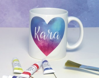 Design Your Own Abstract Watercolour Art Mug