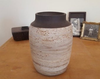 Jaap Ravelli 96-2: Vintage Dutch Ceramic Birch Bark Effect Midcentury Modern Vase
