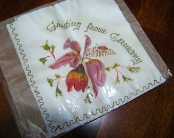 Vintage Handpainted Handkerchief