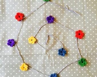 Flower Crochet Garland