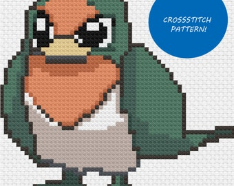 Shiny Taillow cross stitch pattern