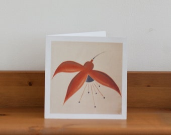 Fuchsia Greeting Card, blank card, thank you, sympathy, gift, birthday, flower, floral