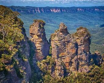 Three Sisters Blue Mountains Australia Photograph