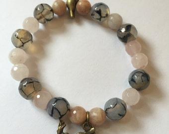 Birdy Peace gemstone bracelet