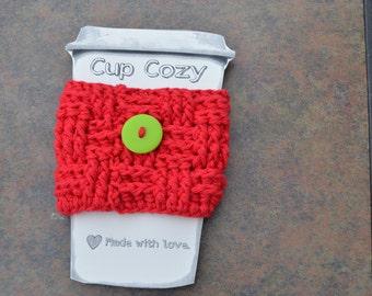 Basketweave Coffee Cozy