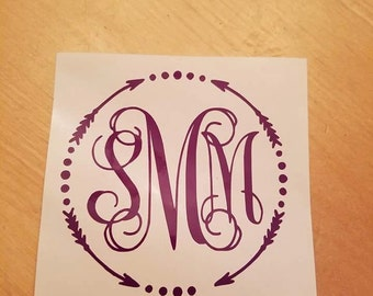 Monogram with frame decal
