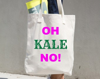 OH KALE NO! grocery bag