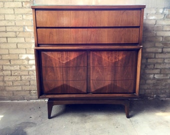 Fantastic Mid Century United Highboy Dresser