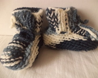 Baby shoes knit 74/80 wool baby shoes wool
