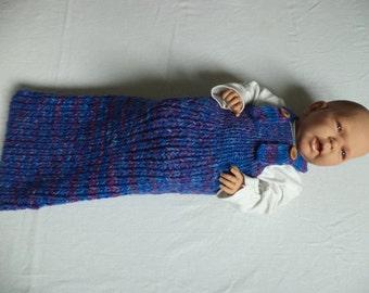 Baby sleeping bag cocoon Merino Wool knit 60 cm wool
