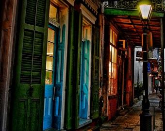 New Orleans Evening Blue Doors