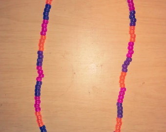 Pink and orange and purple necklace