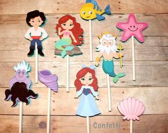 Mermaid Princess Cupcake Toppers