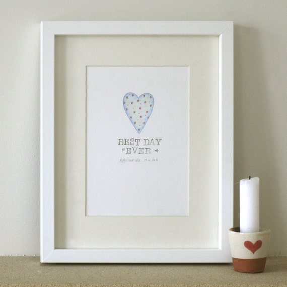 Best Wedding Gift Ever For Bride : Personalised wedding gift. Best Day Ever! Anniversary present.Present ...