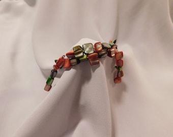 Multicolored Stone Dangle Bracelet