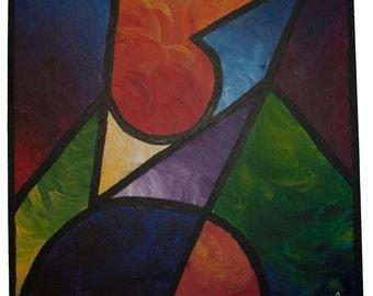 Abtract, Multi-Color, Geometric