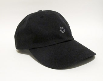 Smiley Face 3M Reflective Minimal Dad Cap