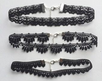Crochet Lace Choker Necklace
