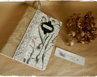 Handmade Book of Treasures, Handbound, Lace, Botany, Diary, Journal, Photo Album, Sketch Book, Scrapbook, Nature